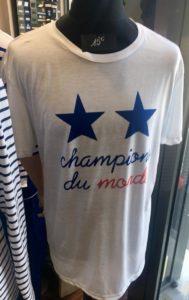 t-shirt Champions du monde France avec 2 étoiles