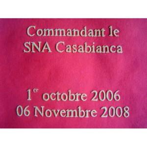 Fanion SNA Casabianca Brodé 2