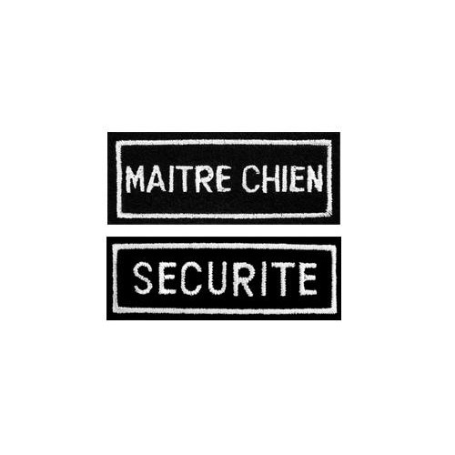 BANDES BRODEES - SECURITE / MAITRE CHIEN