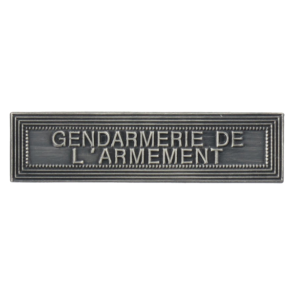 Agrafe Ordonnance Gendarmerie de L'Armement