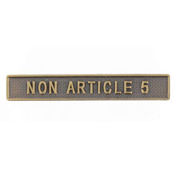 Agrafe Ordonnance Non Article 5