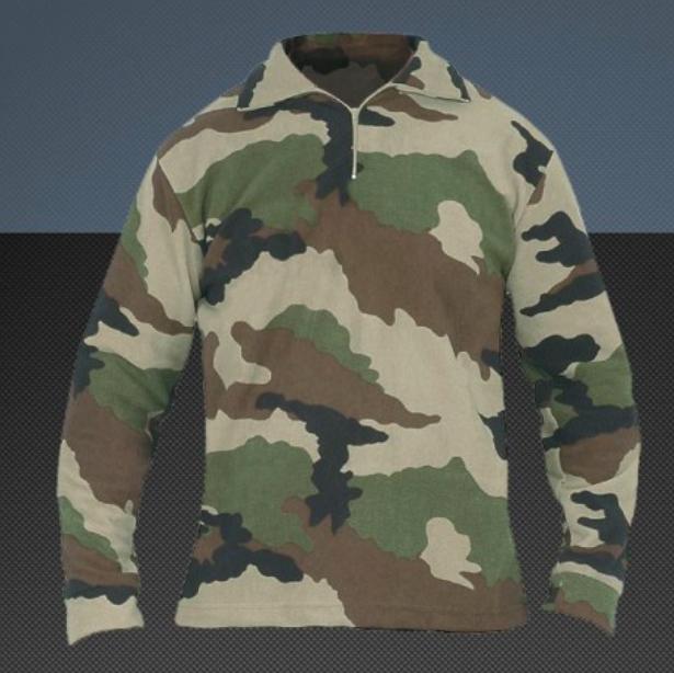 Chemise officielle F1 de l'armée francaise, modèle camouflage