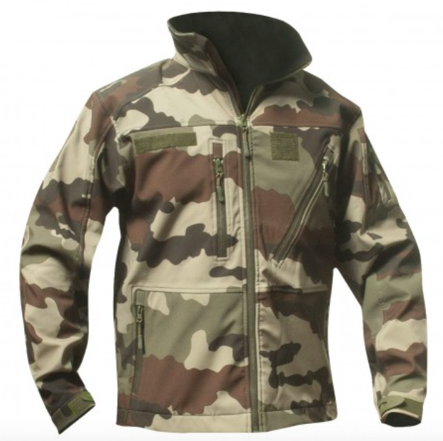 BLOUSON CAMO CE SOFTSHELL 3 COUCHES OPEX