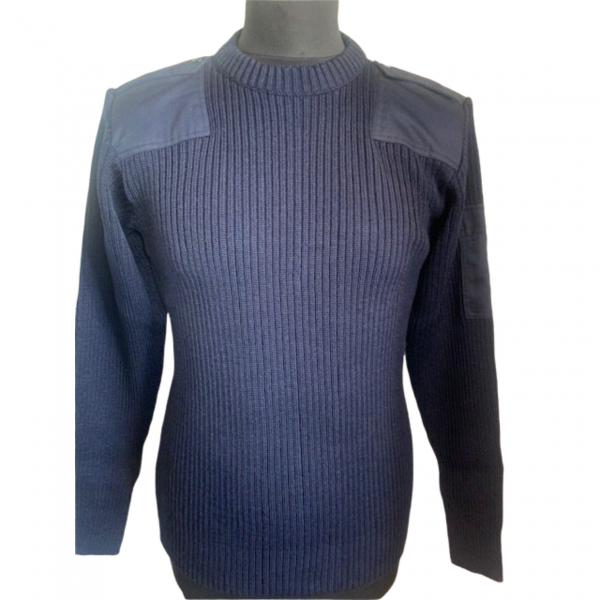 Pull officiel de la Marine avec épaulettes ( acrylique et laine)